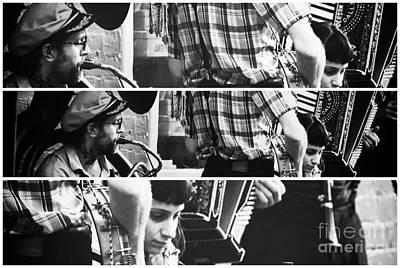 Jazz Band Photograph - New Orleans Jazz Panels by John Rizzuto