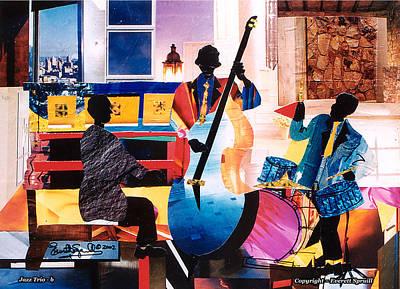 New Orleans Jazz Trio B Print by Everett Spruill
