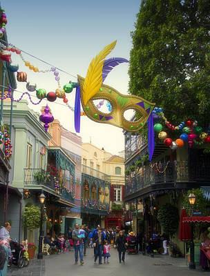 Haunted Mansion Digital Art - New Orleans Mardi Gras Mask Disneyland by Thomas Woolworth