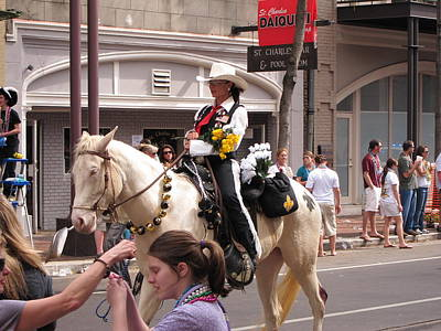 New Orleans - Mardi Gras Parades - 1212141 Print by DC Photographer