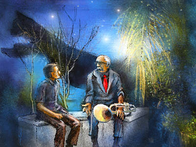 Art Miki Digital Art - New Orleans Nights 02 by Miki De Goodaboom