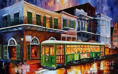 Bourbon Street Painting - New Orleans Old Desire Streetcar by Diane Millsap