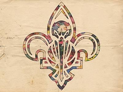 New Orleans Pelicans Logo Art Print by Florian Rodarte