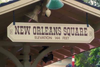 Haunted Mansion Digital Art - New Orleans Signage Disneyland by Thomas Woolworth