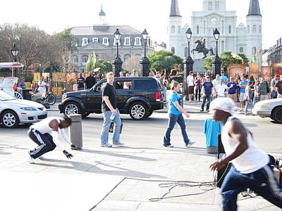 New Orleans - Street Performers - 121213 Print by DC Photographer