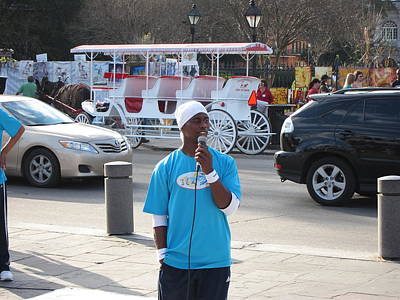 New Orleans - Street Performers - 12128 Print by DC Photographer