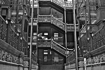 New Photographic Art Print For Sale Bradbury Building Downtown La Print by Toula Mavridou-Messer