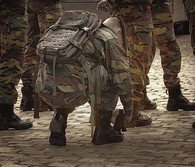 Bruxelles Photograph - New Recruit by Joan Carroll