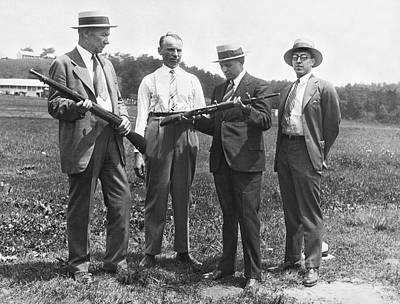 Scrutiny Photograph - New Rifles For The Army by Underwood Archives
