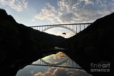 New River Bridge -  Base Jumper Print by Dan Friend