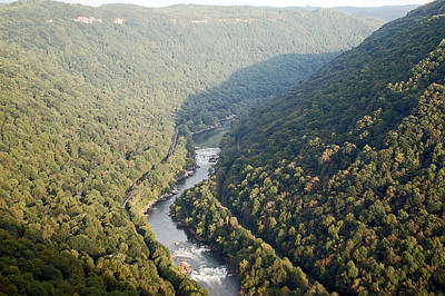 Waters Photograph - New River Gorge by Aimee L Maher Photography and Art Visit ALMGallerydotcom
