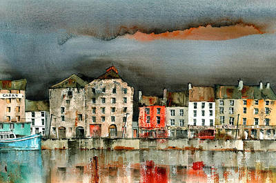 Tour Ireland Painting - New Ross Quays Wexford by Val Byrne