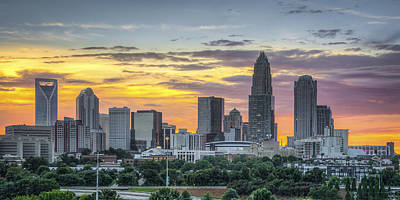 Charlotte Photograph - New South Summer Sunset by Brian Young