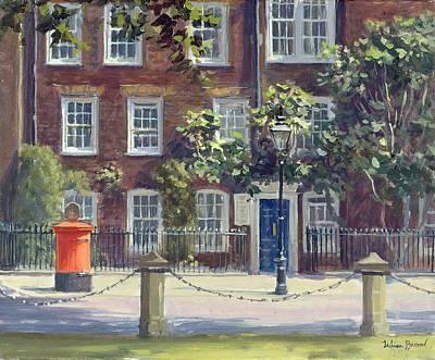 Letter Box Photograph - New Square, Lincolns Inn Oil On Canvas by Julian Barrow