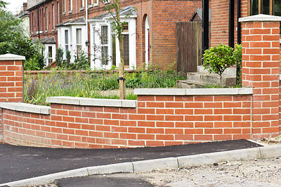 Brick Building Photograph - New Wall by Tom Gowanlock