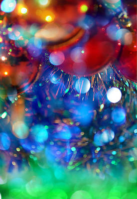 New Year And Xmas Background Print by Irina Effa
