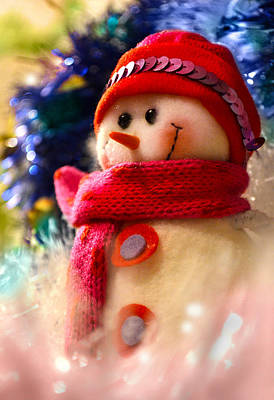 New Year Snowman Print by Irina Effa