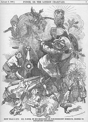 1884 Drawing - New Years Eve 1884 by Konni Jensen