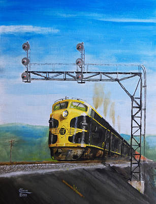 Train Painting - New York-98 by Christopher Jenkins