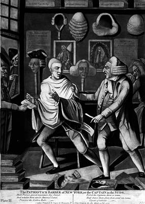 New York Barber, C1775 Print by Granger