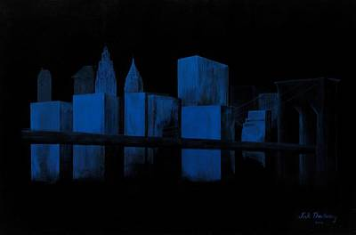 Skyscraper Painting - New York Blues by Andrew Roy Thackeray