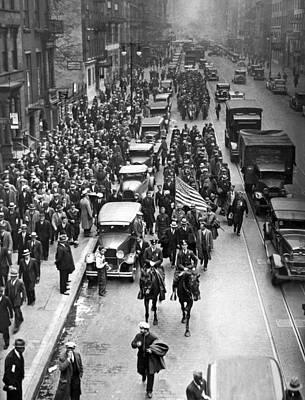 New York Bonus Army Marchers Print by Underwood Archives