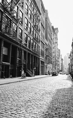Fire Escape Photograph - New York City Afternoon - Cobblestones In The Sunlight by Vivienne Gucwa