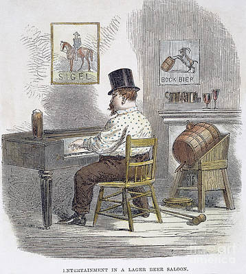 New York City Beer Hall Print by Granger
