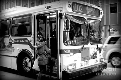 New York City Bus Print by Miriam Danar