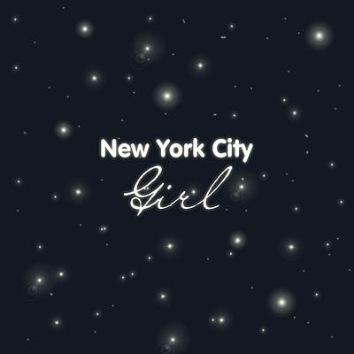 New York City Girl Print by Pati Photography