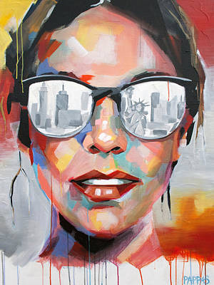 Statue Portrait Painting - New York City by Julia Pappas