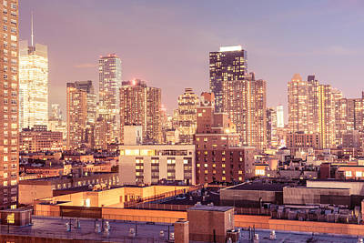 Rooftops Photograph - New York City - Lights - Skyscrapers Of Midtown by Vivienne Gucwa