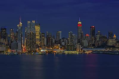 New York City Skyline Photograph - New York City Lights by Susan Candelario
