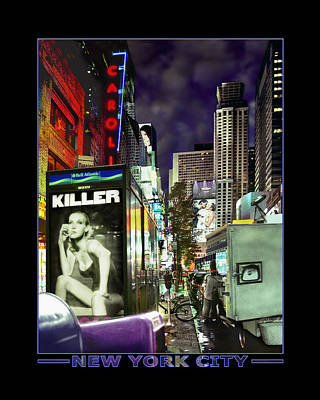 Times Square Digital Art - New York City by Mike McGlothlen
