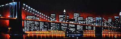 New York City Skyline Painting - New York City Panaroma by Thomas Kolendra