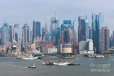New York City Parade Of Sail I Print by Clarence Holmes