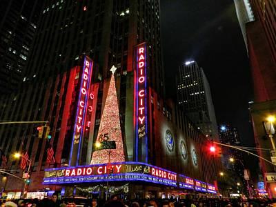Sign Photograph - New York City - Radio City Music Hall 002 by Lance Vaughn