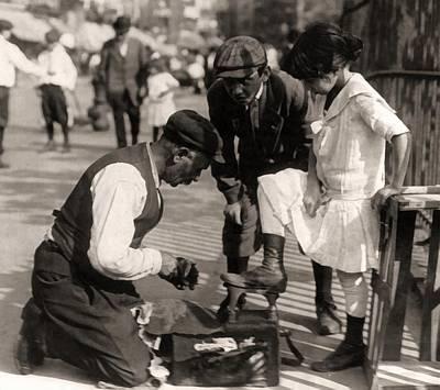 1916 Digital Art - New York City Shoeshine 1916 by Unknown