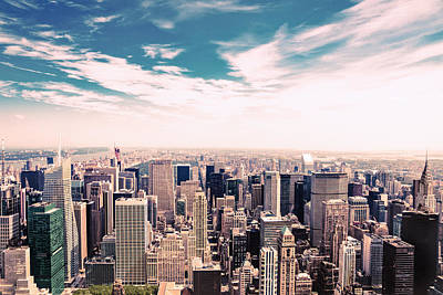 New York City Rooftop Photograph - New York City - Skyline And Central Park by Vivienne Gucwa