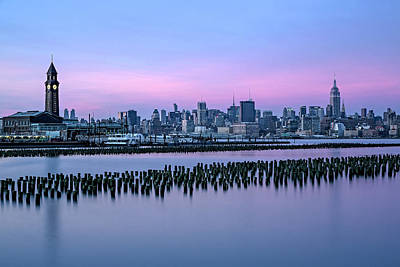 Train Depot Photograph - New York City Skyline Stillness by Susan Candelario
