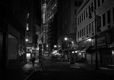 New York City Street - Night Print by Vivienne Gucwa