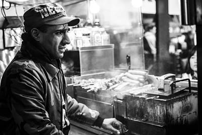 Hot Dog Stands Photograph - New York City Street Vendor 2 by David Morefield