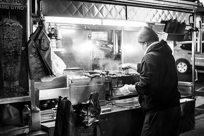 Hot Dog Stands Photograph - New York City Street Vendor by David Morefield