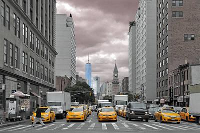 New York City Street View Print by Paul Van Baardwijk