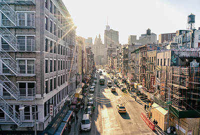 New York City - Sunset Above Chinatown Print by Vivienne Gucwa