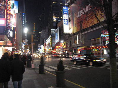 New York City - Times Square - 121218 Print by DC Photographer