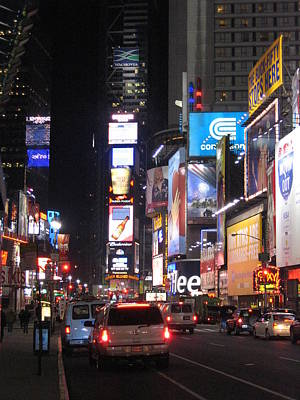 New York City - Times Square - 121219 Print by DC Photographer