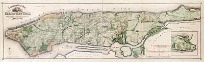 New York City Topography Print by Library Of Congress, Geography And Map Division