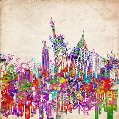 Chrysler Building Digital Art - New York City Tribute 2 by Bekim Art