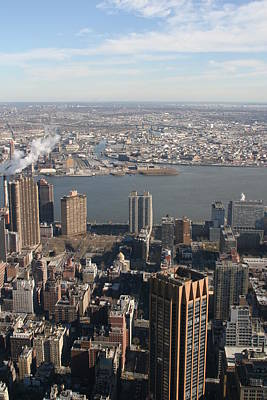 New York City - View From Empire State Building - 121219 Print by DC Photographer